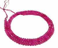 """5 Strand Pink Chalcedony Rondelle Faceted 4-4.5mm Gemstone Beads 13.5""""inch"""