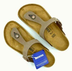 Birkenstock Women's Gizeh Thong Sandal,Mocca Birko flor, 37M (Women US 6-6.5)