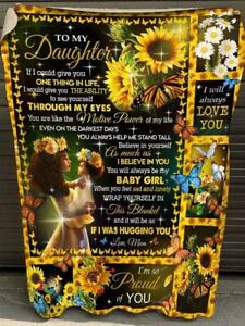 Sunflower Mom To Daughter U Are Like The Motive Power Of My Life Sherpa Blanket