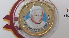 50 cent euro 2013 color farbe kleur VATICANO Vatican Vatikan Ratzinger Benedetto