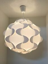 "New Ikea Fillsta Pendant Ceiling Lamp Light White 18.5"" wide 801.550.12 - 19272"
