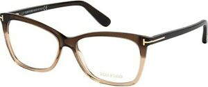 Tom Ford glasses TF 5514 in col 050 brown with case & cloth 54mm