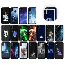 Goma Protectora Paragolpes Estuche/cubierta para iPhone 8 XS MAX 10 XR PLUS X/Wolf