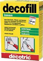Gipsspachtelmasse decofill innen 3001001 Celluloseverstärkt 500 g von decotric