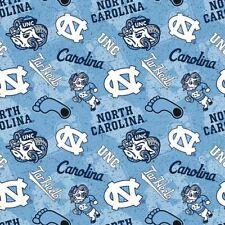 North Carolina UNC Tar Heels Cotton Fabric Tone on Tone Print-By the Yard