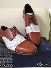 Amali New Mens Dress Shoes Two Tone Oxford Wedding Prom Tuxedo Fashionable shoes