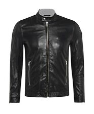 Diesel L-franklin Black Leather Jacket Size XL 100 Authentic