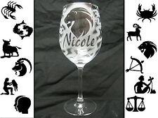 Weinglas Weinkelch Rotwein Hugo Glas mit Namen Sternzeichen Gravur individuell