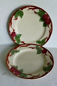 """Set of 2Franciscan Apple Dinner Plate 10 5/8"""" Apple Back Stamp Beautiful Cond.!"""