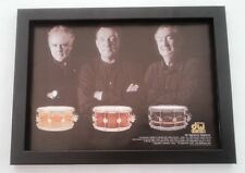 QUEEN RUSH PINK FLOYD 'drum icons' A4 magazine PHOTO *FRAMED*