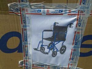 Drive Lightweight Transport Wheelchair-Blue