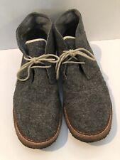 TOMS The Hillside Mateo Men's Size 11.5 Chukka Gray Herringbone Ankle Boots