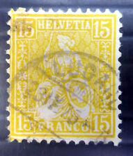 SWITZERLAND 1875 SG63 Used NB3080