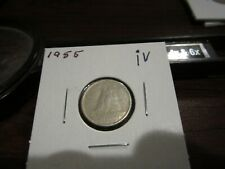 1955 - Canada - Silver 10 cent coin - Canadian dime