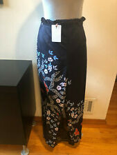 31185a11d New TED BAKER LEONNA Kyoto Gardens Tapered Pants Blue Floral Size 4