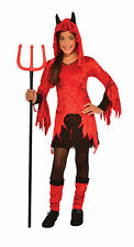 Kids  Devilina Devil Costume Girls Red Dress w/ Leg Warmers Size Small 4-6