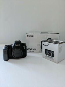 Canon EOS 6D Mark II 26.2MP DSLR Camera (w/ EF 50mm f/1.8 STM Lens & 32GB SD)