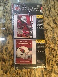 Arizona Cardinals NFL 28x40 2 Sided Banner/Vertical Flag  Larry Fitzgerald