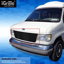 eGrille Fits 1992-2007 Ford Econoline Van 15 Bars Black Stainless Billet Grille