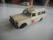 Matchbox Lesney Mercedes binz Ambulance in White