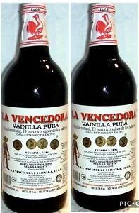 2 X La Vencedora Pure Mexican Vanilla Extract Glass Bottles 31oz Ea From Mexico