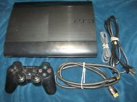 Playstation 3 PS3 Super Slim 250 GB 4001b Console Tested plays great!!!