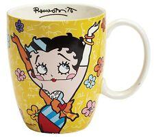 Betty Boop by Romero Britto Yellow Ceramic Cup Mug 10.5cm 4046460 Boxed New