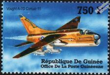 LTV Vought A-7/A-7D CORSAIR II Attack Aircraft Stamp (2002 Guinea)