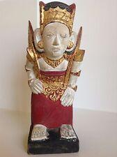 Antique Wood Garuda Figure Original Gilt & Polychrome Hindu Deity Hand Carved