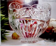 """SHANNON CRYSTAL by Godinger Floral Garden Crystal Candy Dish Bowl 5.5"""" Diameter"""