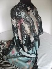 Ladies Marks & Spencer soft modal shawl wrap cape scarf blue floral New rrpGBP45