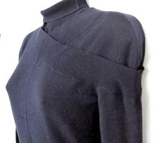1.9K Auth NEW Alexander McQUEEN Midnight BLUE Wool TURTLENECK Dress SWEATER
