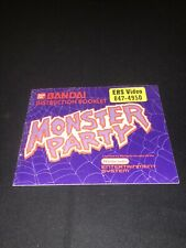 monster party nes Manual