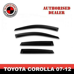 Weathershields, Weather shields for Toyota Corolla Sedan 2007-2012 Sun Visors