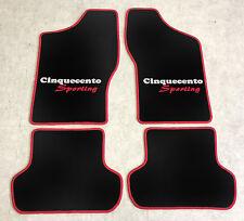 Autoteppich Fußmatten für Fiat Cinquecento Sporting rot silber 2farbig 4tlg Neu
