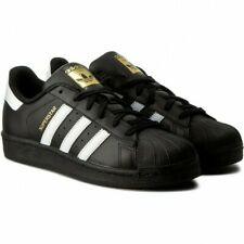 Scarpe da uomo Adidas Superstar Foundation B27140 nero sneakers sportiva Tg 44.5
