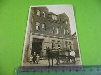 Altes Foto Postkarte Saalfeld um 1910 bis 1920, Kutsche Haus, Kinder Kutscher