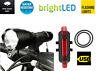 Ricaricabile USB Anteriore e Posteriore Led Bicicletta Luci Set Per
