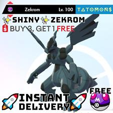 ✨Shiny Zekrom✨ Legendary Pokemon Sword and Shield 6 IV 🚀Fast Delivery🚀