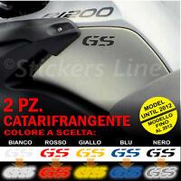 2 Adesivi Serbatoio BMW R 1200 gs adventure CATARIFRANGENTI R1200GS fino 2012