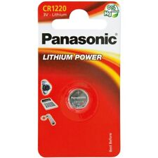 1 x Panasonic CR1220 ECR1220 DL1220 3v Lithium Battery Free 1st class P&P