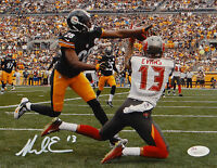 Mike Evans Autographed Tampa Bay 8x10 Catch Against Steelers Photo- JSA W Auth