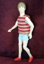 """Vintage ©2010 """"Justin Bieber"""" Look Alike Jointed Ken Doll"""