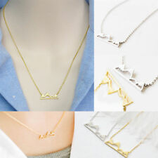 Fashion Dainty Snowy Mountain Necklace For Women Chain Pendants Jewelry Charms