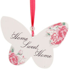 Home Sweet Home Hanging Posies Butterfly Friendship Wall Plaque