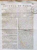 Châlons-sur-Marne École d'Art 1809 Rare Lot de 2 Journal de Paris Empire