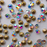 Crystal AB Rhinestones Point back Glass Chatons Nail Art Beads Stones U2