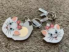 Disney Parks Maria Aristocats Cat Acrylic Keychain w/ Slider Hidden Mirror NWT