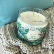 Partylite Sea Glass Signature 3-wick Jar Candle Brand New