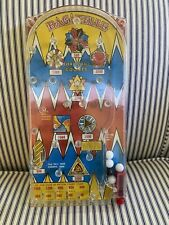 VINTAGE 1960S MARX TOYS TABLE TOP PINBALL GAME BAGATELLE WORKS!